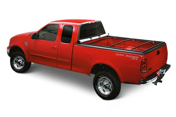 Image may not reflect your exact vehicle! Lund® - Genesis Snap Soft Tonneau Cover, Opened