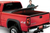 Image may not reflect your exact vehicle! Lund® - Genesis Tri-Fold Tonneau Cover, Folding
