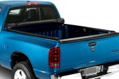 Image may not reflect your exact vehicle! Lund® - Revelation Roll-Up Tonneau Cover, Open