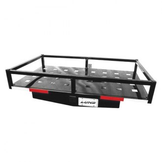 "Lund® - Black Aluminum Hitch Cargo Carrier for 2"" Receivers"