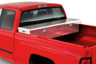 Image may not reflect your exact vehicle! Lund® - Challenger™ Single Lid Crossover Brite Tool Box Installed