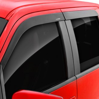 Lund® - Tape-On Low Profile Textured Black Front and Rear Window Deflectors