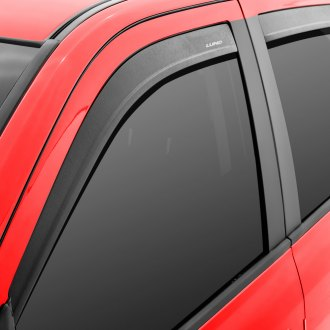 Lund® - Tape-On Low Profile Textured Black Front and Rear Set Window Deflectors