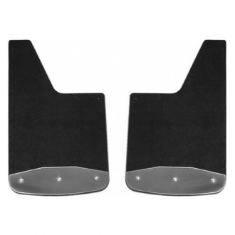 "Luverne® - Textured Rubber 12"" x 20"" Mud Guards with Stainless"