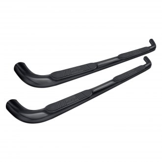 "Luverne® - 3"" Cab Length Black Round Nerf Bars"