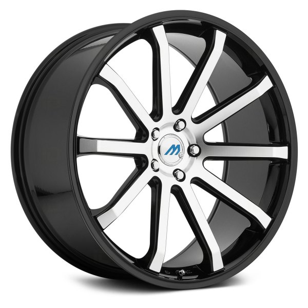 MACH ME60 Wheels Gloss Black With Machined Face Rims ME60 Magnificent 5x105 Bolt Pattern
