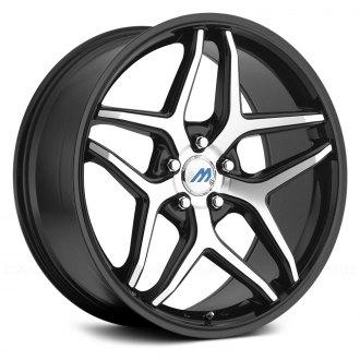 2007 subaru impreza rims custom wheels at carid page 3 Blobeye STI mach me3 gloss black with machined face