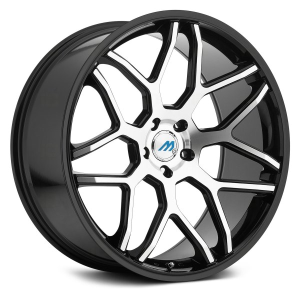 MACH ME60 Wheels Gloss Black With Machined Face Rims ME60 Awesome 5x105 Bolt Pattern
