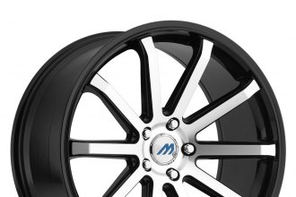 "MACH® - M10 Gloss Black with Machined Face (19"" x 8.5"", +45 Offset, 5x100 Bolt Pattern, 72.56mm Hub)"