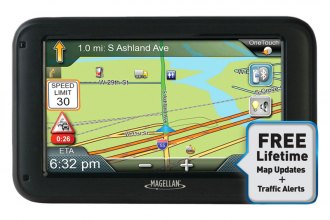 "Magellan® - RoadMate Commercial Truck 5370T-LMB 5"" GPS Device with Free Lifetime Map & Traffic Updates"