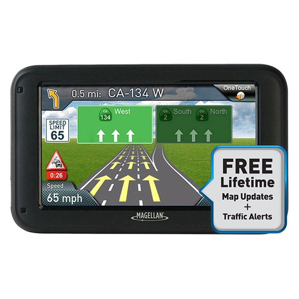 "Magellan® - RoadMate 2210T 4.3"" Touchscreen Vehicle GPS Navigator With Lifetime Traffic Alerts"