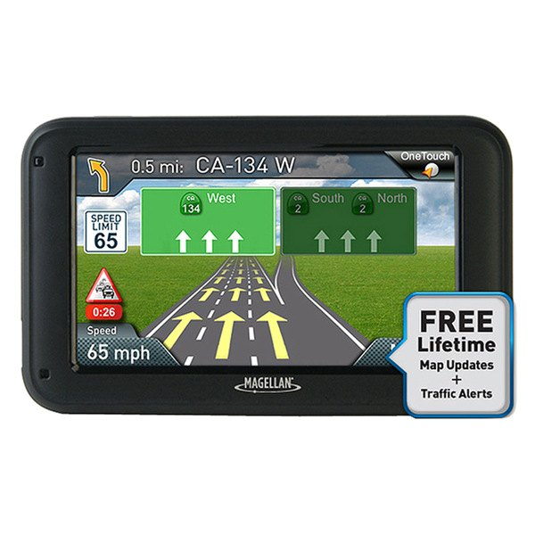 "Magellan® - RoadMate 2240T-LM 4.3"" Touchscreen Vehicle GPS Navigator With Lifetime Traffic Alerts and Map Updates"