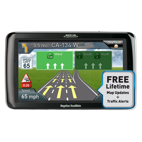 "Magellan® - RoadMate 5245T-LM 5"" Touchscreen Vehicle GPS Navigator With Lifetime Traffic Alerts and Map Updates"