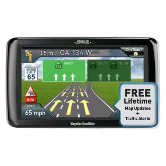 Magellan® - RoadMate 5255T-LM 5 Touchscreen Vehicle GPS Navigator With Lifetime Traffic Alerts and Map Updates