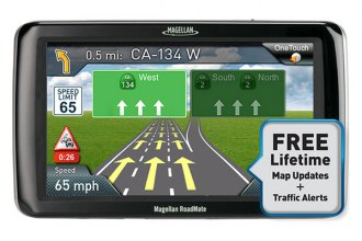 "Magellan® - RoadMate 5255T-LM 5"" Touchscreen Vehicle GPS Navigator with Lifetime Traffic Alerts and Map Updates"