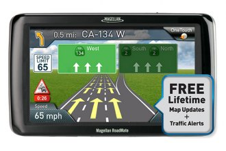Magellan® - RoadMate 5265T-LMB 5 Touchscreen Vehicle GPS Navigator With Bluetooth, Lifetime Traffic Alerts and Map Updates