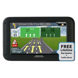 "Magellan® - RoadMate® 5375T-LMB 5"" Vehicle GPS Navigator with Bluetooth® and Free Lifetime Maps and Traffic Updates"
