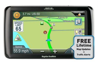 Magellan® - RoadMate RV9165T-LM 7 Touchscreen Vehicle GPS Navigator With Bluetooth, Lifetime Traffic Alerts and Map Updates