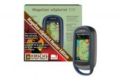 "Magellan® - eXplorist 510 Hunter Bundle 3"" Touchscreen Handheld GPS Navigator With Kirsch Trax Maps"