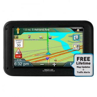 "Magellan® - RoadMate Commercial Truck 5370T-LMB 5"" GPS Navigator with Free Lifetime Map & Traffic Updates"