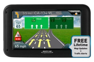"Magellan® RM5230SGLUC - RoadMate 5230T-LM 5"" Touchscreen Vehicle GPS Navigator with Lifetime Traffic Alerts and Map Updates"
