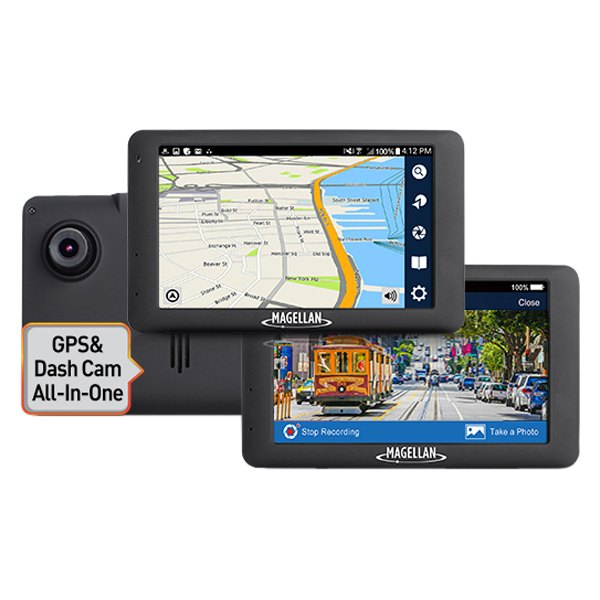 "Magellan® - RoadMate™ 6615-LM 5.0"" Touchscreen GPS Navigator with Built-in Dash Camera"