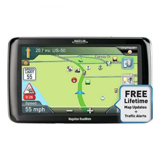"Magellan® - RoadMate™ RV9365T-LMB 7.0"" Touchscreen GPS Navigator with Free Lifetime Map and Traffic Updates"