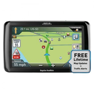 "Magellan® - RoadMate RV 9365T-LMB 7"" GPS Navigator with Free LIfetime Map & Traffic Updates"