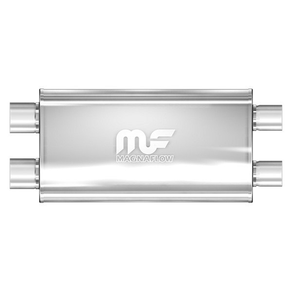 MagnaFlow® - Stainless Steel Oval Muffler, Dual Inlet / Dual Outlet