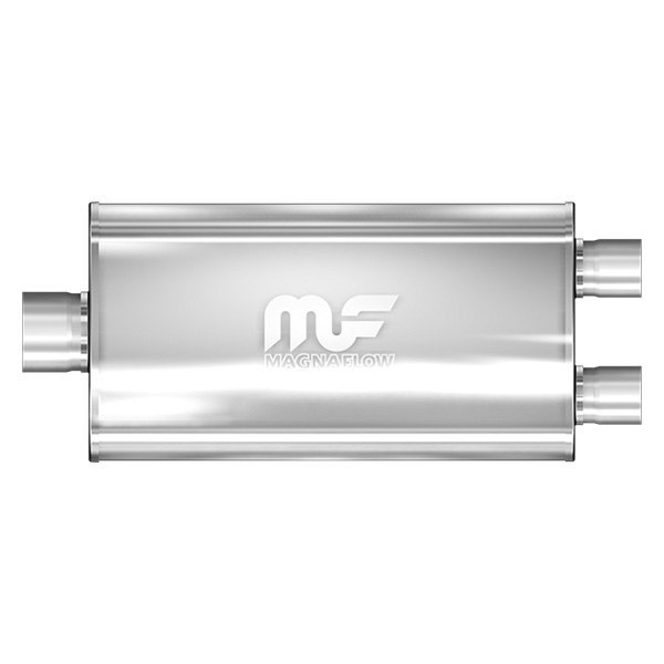 MagnaFlow® - Stainless Steel Oval Muffler, Center Inlet / Dual Outlet