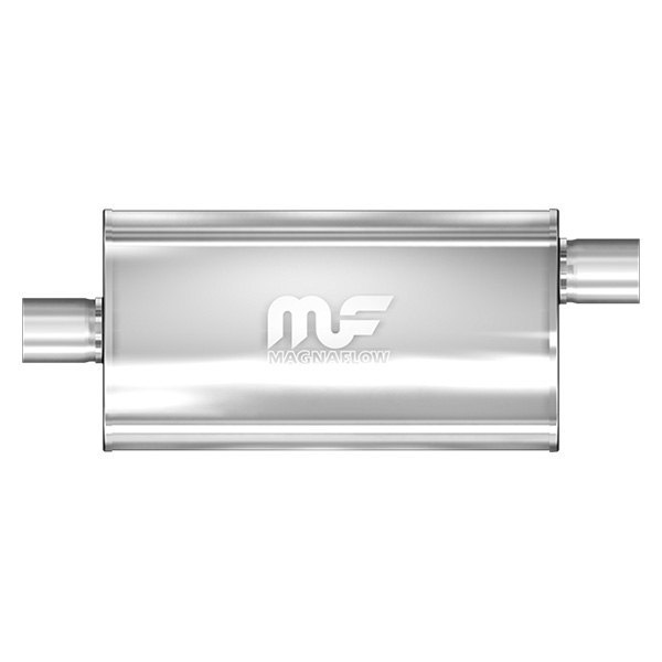 MagnaFlow® - Stainless Steel Oval Muffler, Center Inlet / Offset Outlet