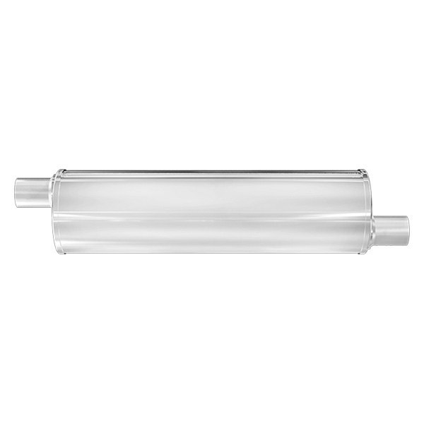 """Magnaflow Muffler 13645 Stainless Round 2.25/"""" in 2.25/"""" out 27/"""" body 33/"""" long"""