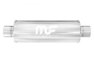 MagnaFlow® - Race Series Stainless Steel Round Polished Exhaust Muffler
