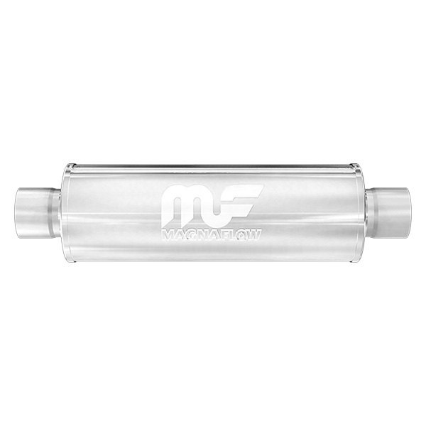 MagnaFlow® - Polished Stainless Steel Round Muffler, Center Inlet / Center Outlet