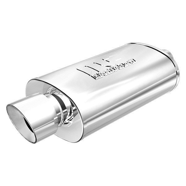 MagnaFlow® - Polished Stainless Steel Oval Muffler, Center Inlet / Center Outlet