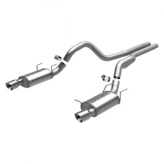 MagnaFlow® - Street Series™ Stainless Steel Dual Exhaust System with Double Wall Round Tip