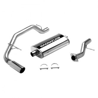 MagnaFlow® - MagnaFlow Series™ Stainless Steel Single Cat-Back Exhaust System with Single Passenger Side Rear Exit
