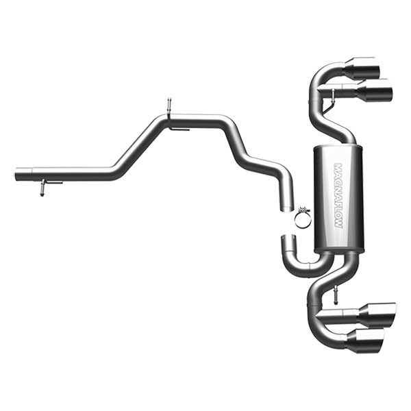 MagnaFlow® - Street Series Stainless Steel Cat-Back Exhaust System (Quad Split Rear Exit)