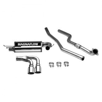 MagnaFlow® - Street Series™ Stainless Steel Dual Cat-Back Exhaust System with Double Wall Round Tip