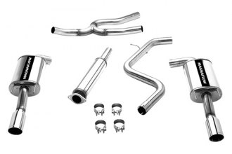 MagnaFlow® 16728 - Street Series Stainless Steel Cat-Back Exhaust System (Dual Split Rear Exit)