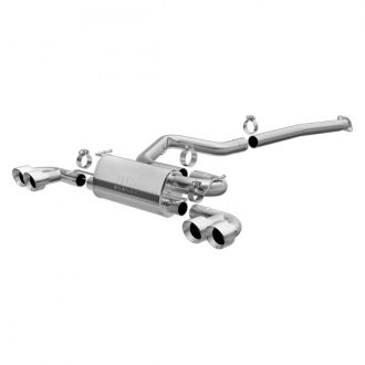 MagnaFlow® - Street Series™ Stainless Steel Single Cat-Back Exhaust System with Quad Split Rear Exit