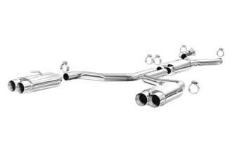 MagnaFlow® 16837 - Street Series Stainless Steel Cat-Back Exhaust System (Quad Split Rear Exit)