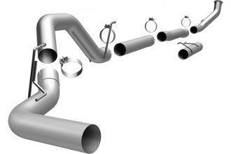 MagnaFlow® 18919 - Custom Builder Aluminized Steel Turbo-Back Exhaust System (Single Passenger Side Rear Exit)