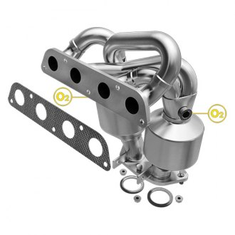 MagnaFlow® - Heavy Metal Stainless Steel Exhaust Manifold with Integrated Catalytic Converter