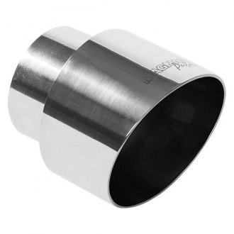 MagnaFlow® - Stainless Steel Polished Round Double Wall Angle-Cut Tip