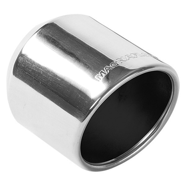 "MagnaFlow® - Stainless Steel Round Rolled Edge Angle Cut Weld-On Single-Wall Polished Exhaust Tip (2.5"" Inlet, 4"" Outlet, 5"" Length)"