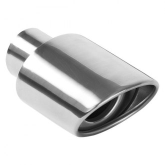 MagnaFlow® - Double Wall Oval Rolled Edge 15-Degree Angle Cut Tip
