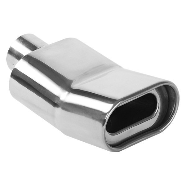 MagnaFlow® - Polished Stainless Steel Single-Wall Round Rolled Edge 15-Degree Angle Cut Weld-On Tip