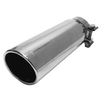 MagnaFlow® - Stainless Steel Single-Wall Round Angle-Cut Rolled Edge Tip
