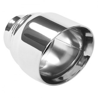 "MagnaFlow 35224 - Stainless Steel Double-Wall Round Angle Cut Tip (2.5"" ID, 4.5"" OD, 5.75"" Length)"